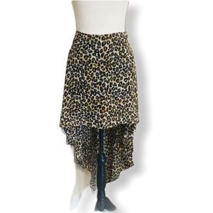 Guess high Low cheetah print skirt size 12
